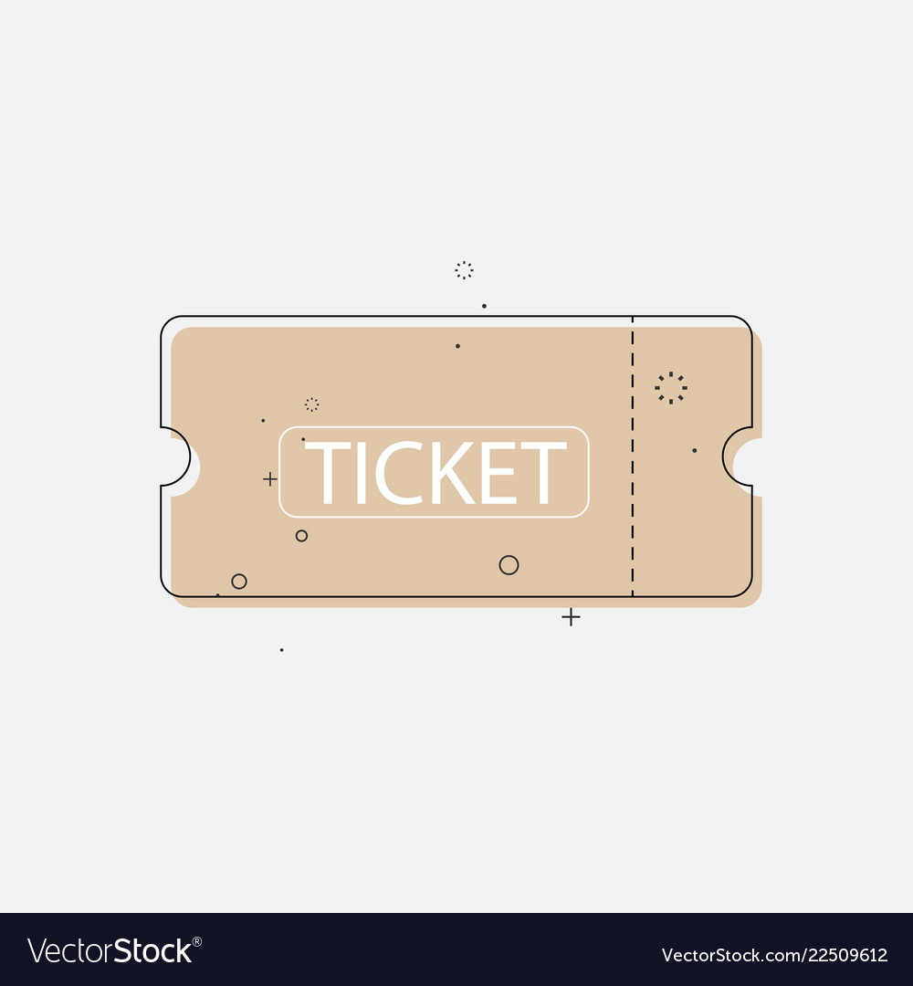 Ticket icon in trendy flat style