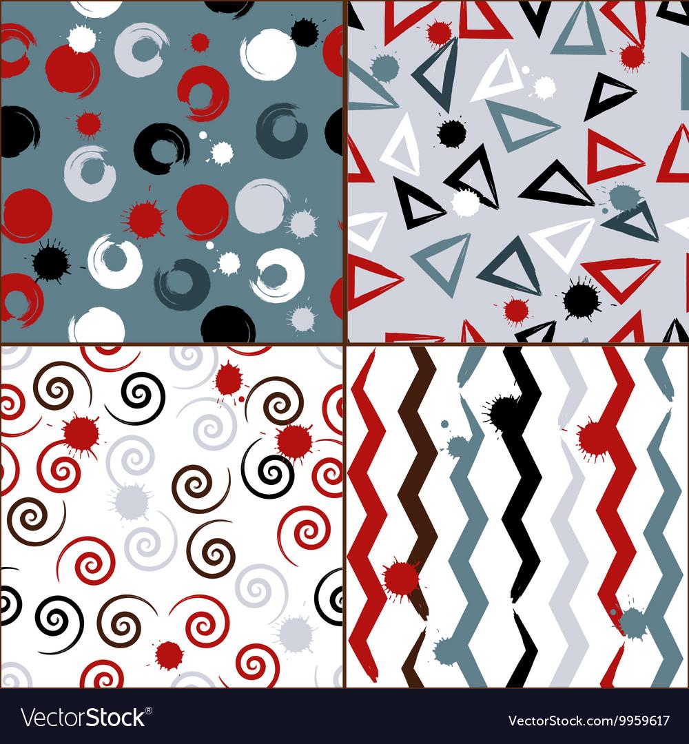 Geometric seamless pattern Brush strokes