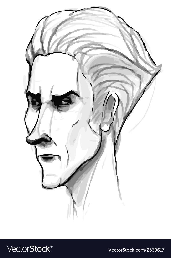 Man portrait sketch Pencil drawing imitation in