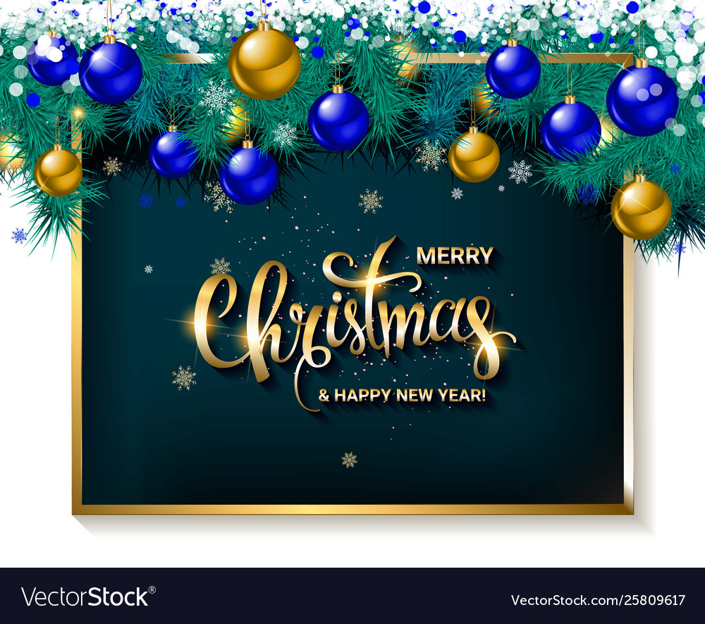 Merry Christmas And Happy 2020 Merry christmas and happy new year 2020 Royalty Free Vector