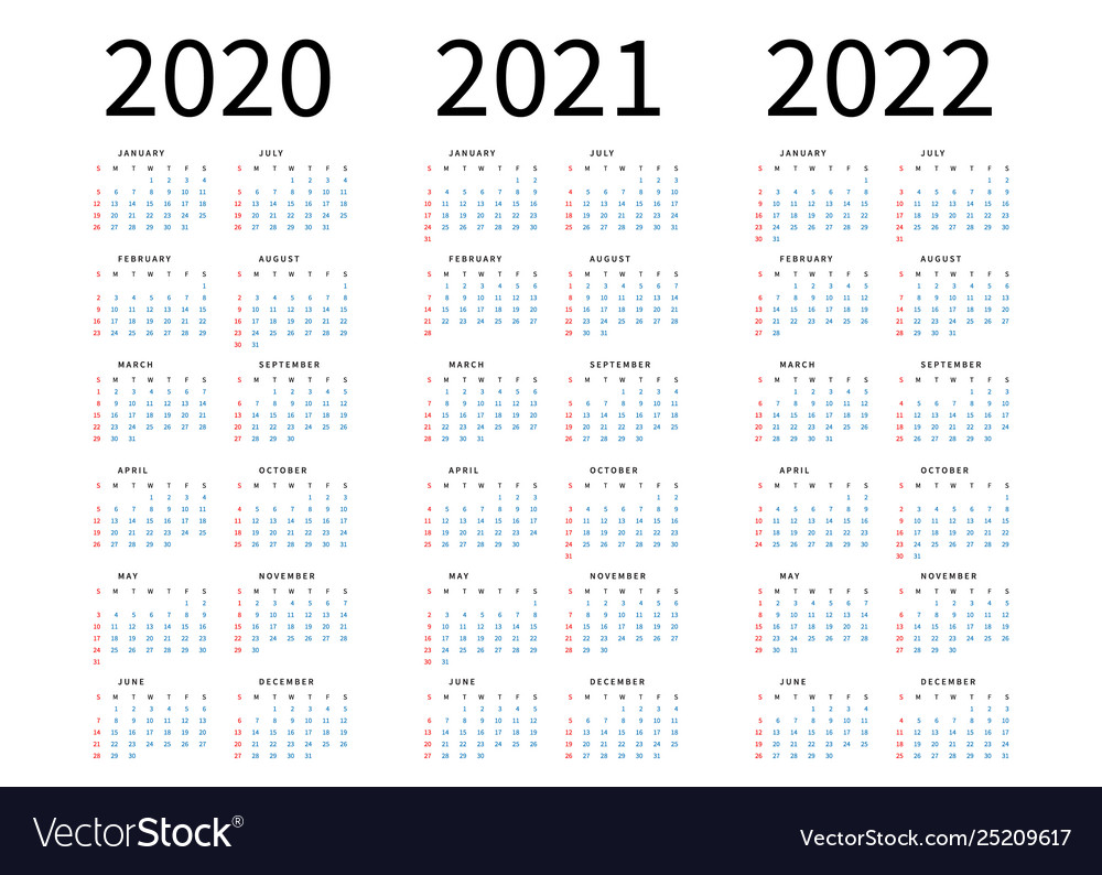 Images of Simple Calendar 2021