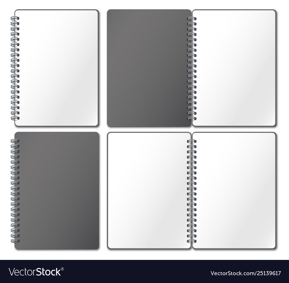 Notebook mockup empty copybook notebooks pages