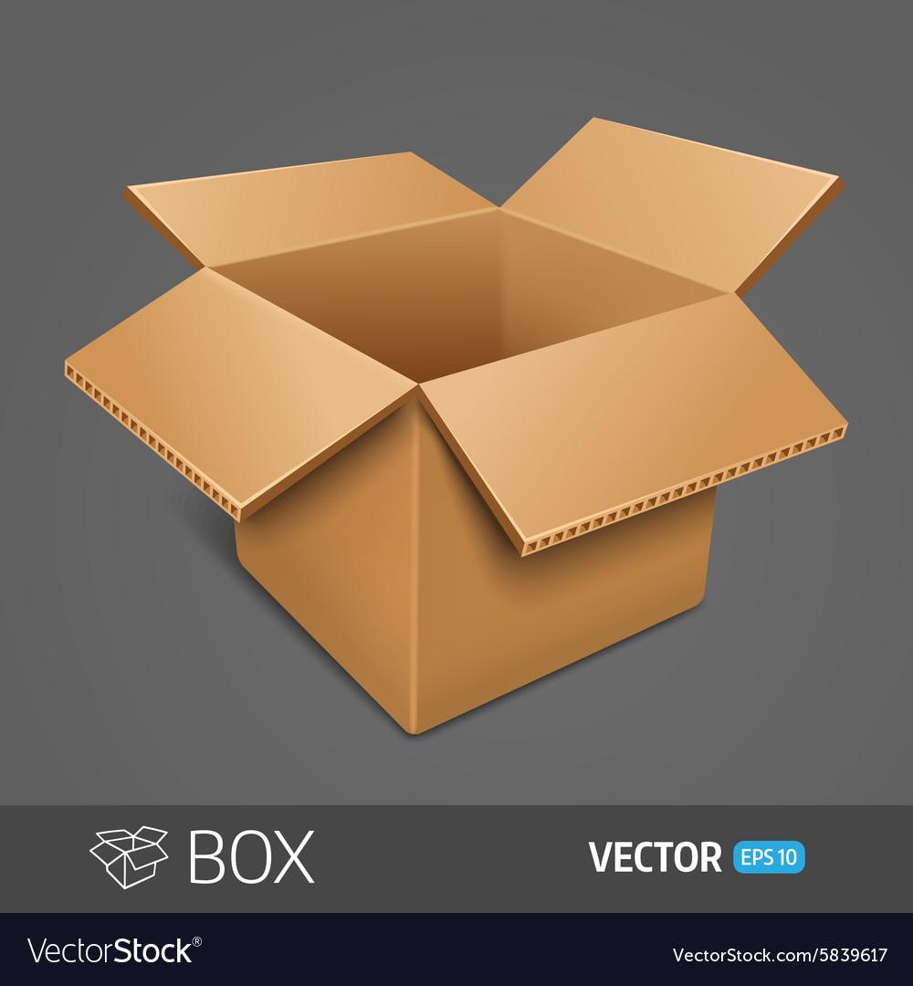 Opening cardboard box EPS 10