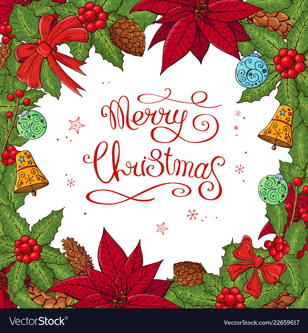 Pretty card with christmas decoration
