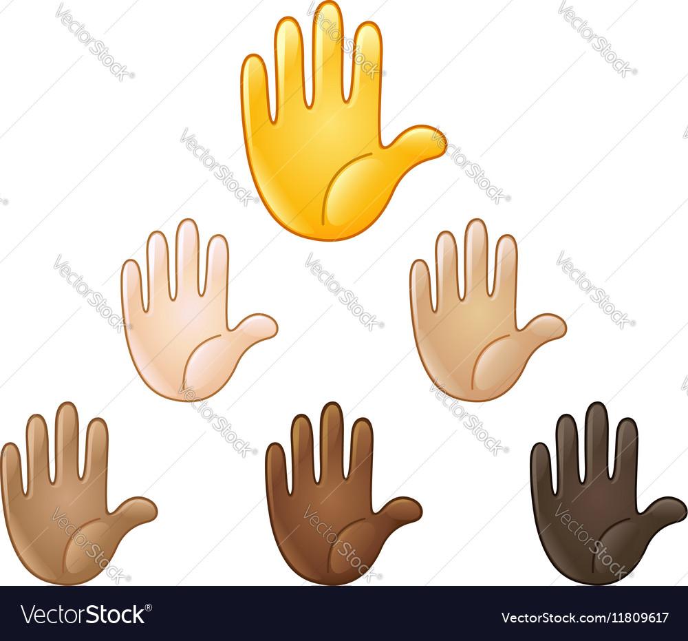 Raised hand emoji