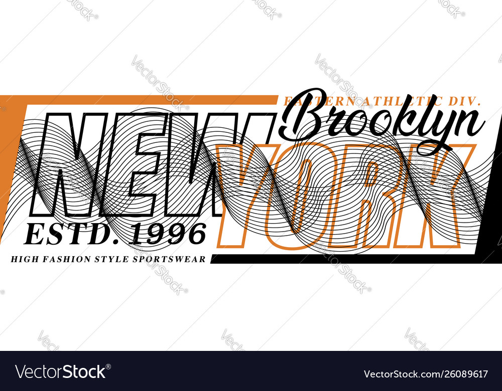 Typography design new york for t-shirt