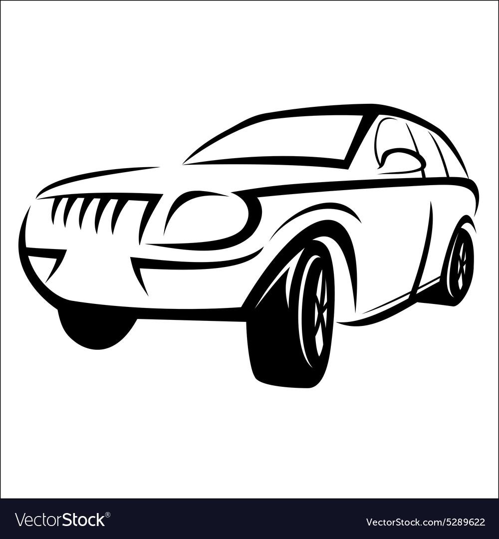 Car Sketch Royalty Free Vector Image Vectorstock