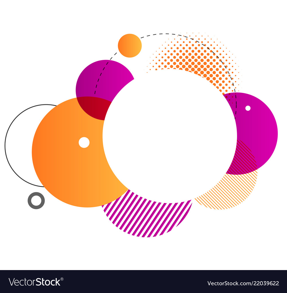 Colorful geometric background round shapes