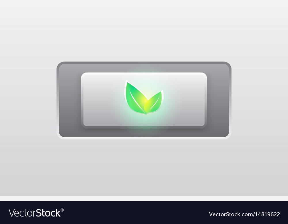 Eco green iconbuttonmodern vector image
