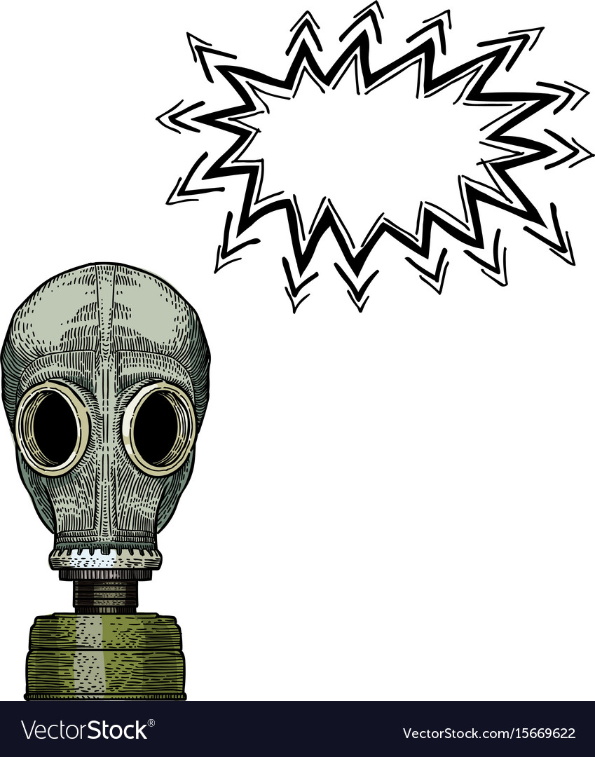 Gas mask-100 vector image