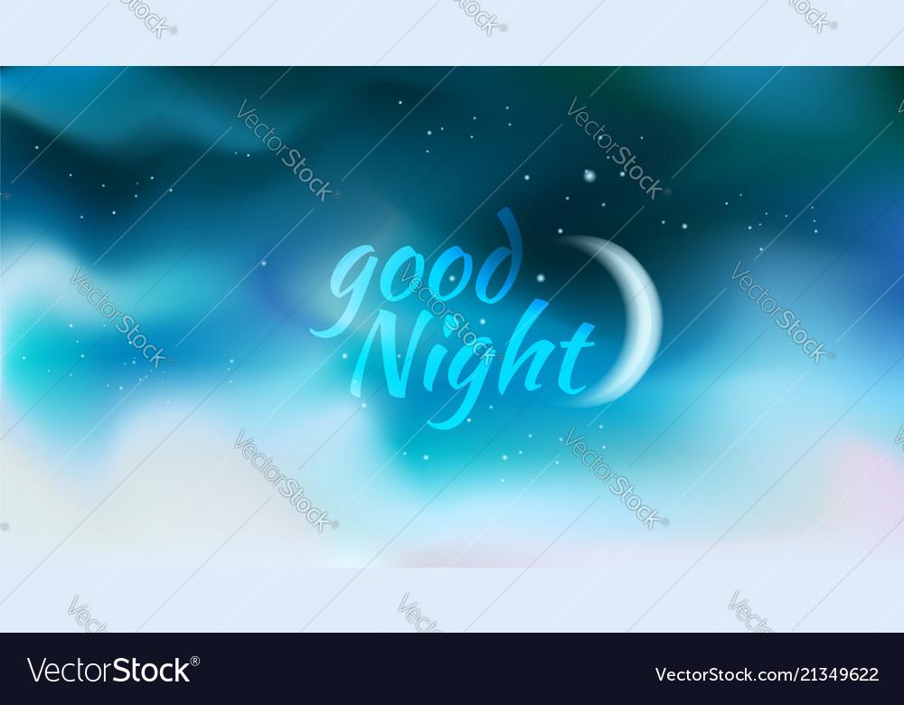 Horizontal wide blurred dsrk blue night sky