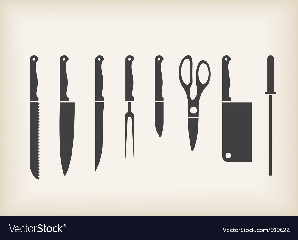 Icons of kitchen knifes
