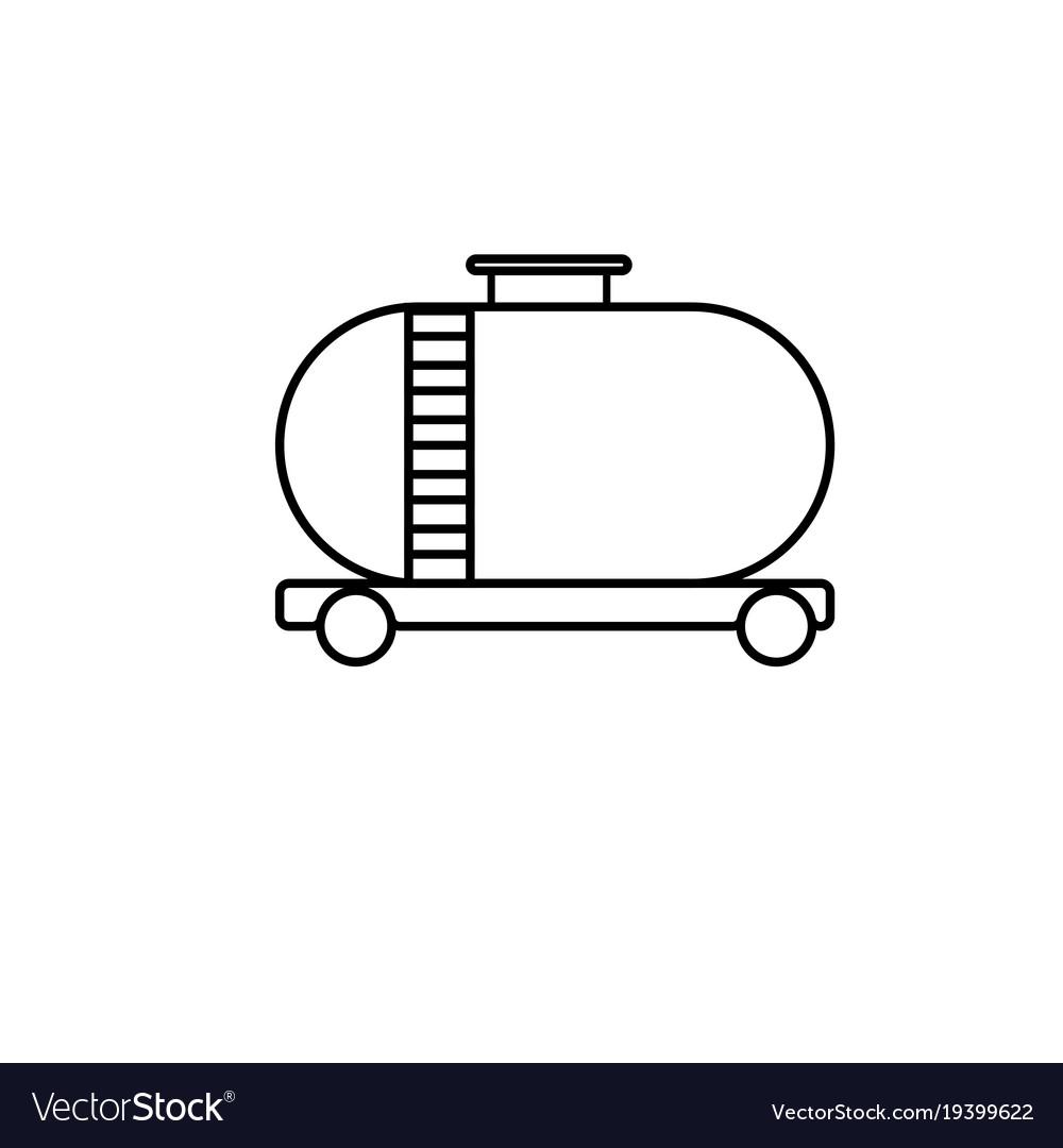 Oil tank icon vector image