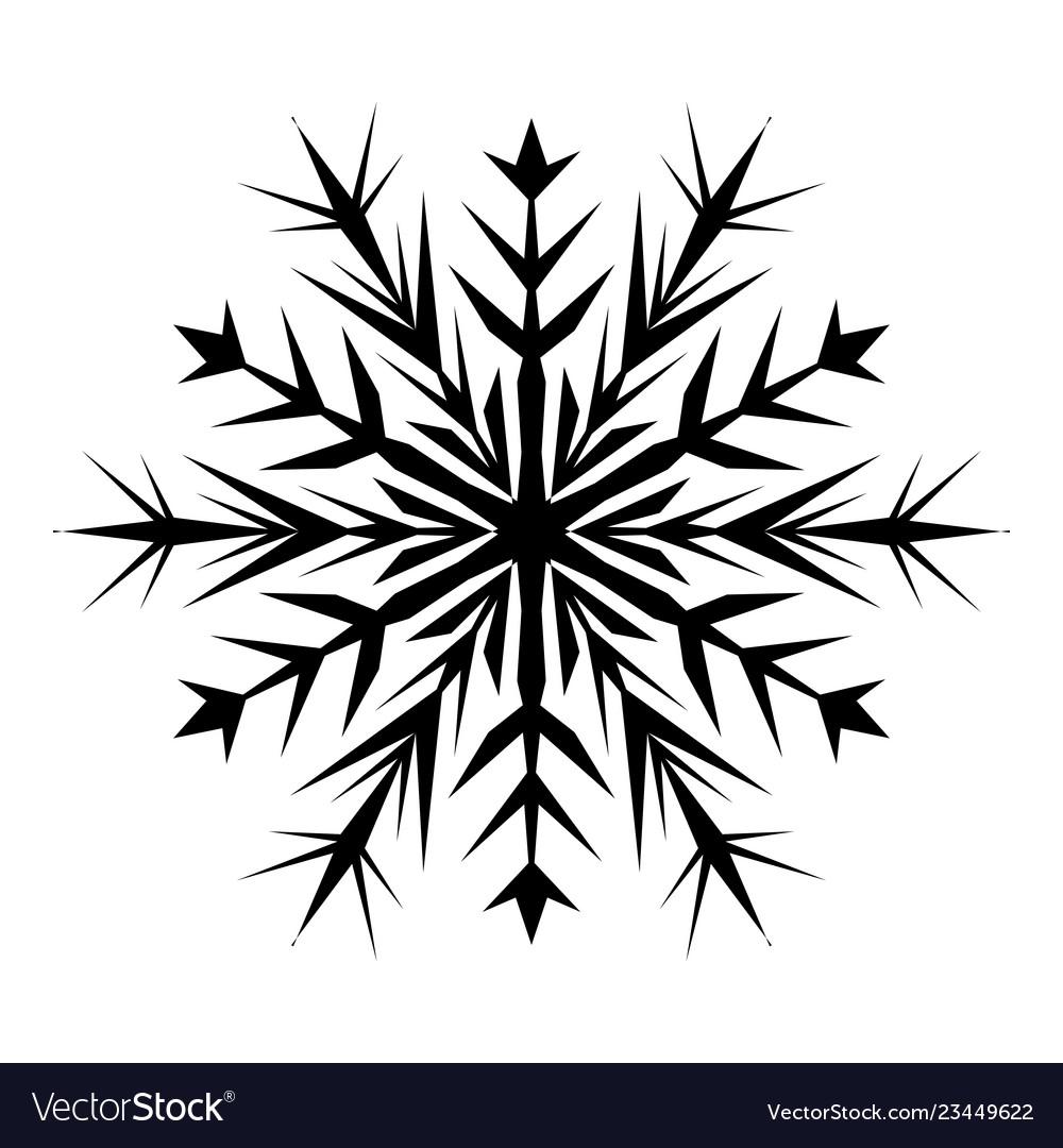 Snowflake Template | Simple Snowflake Template Royalty Free Vector Image