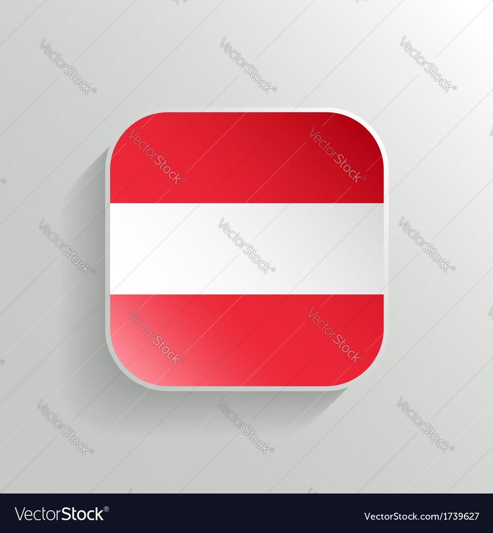 Button - Austria Flag Icon vector image