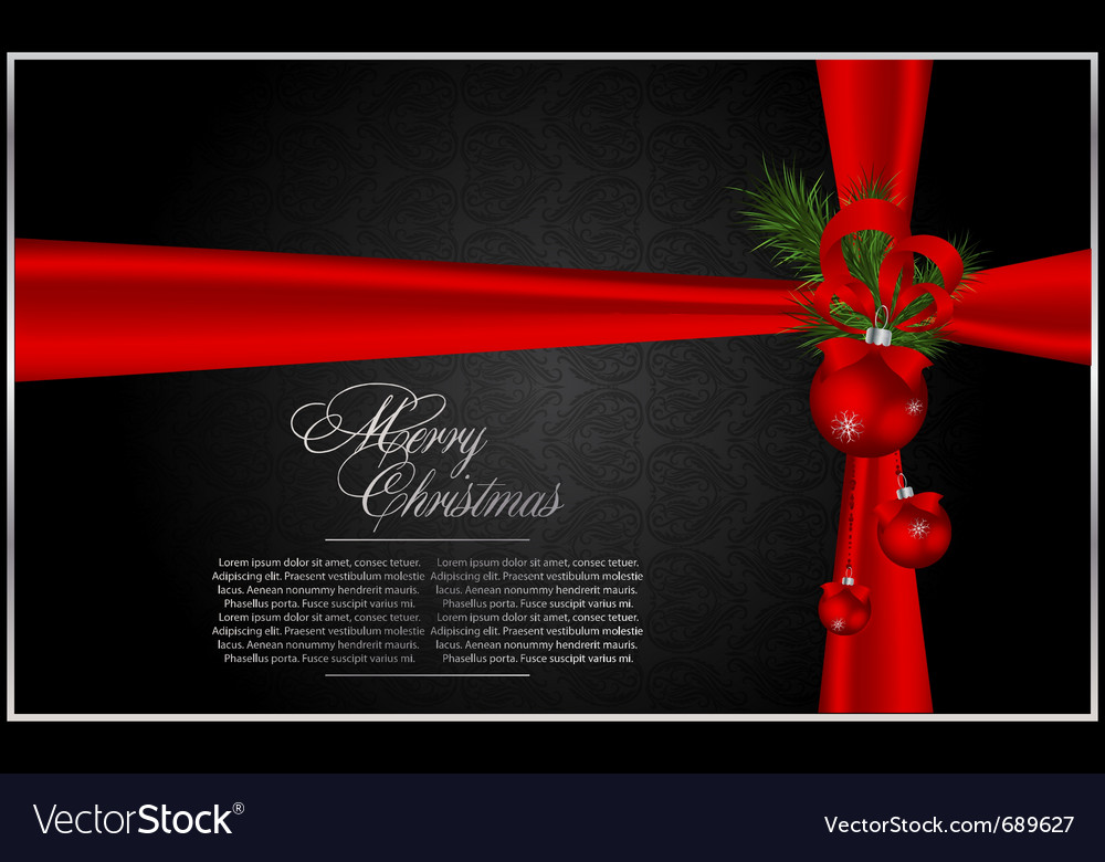 Christmas new year holidays vector image