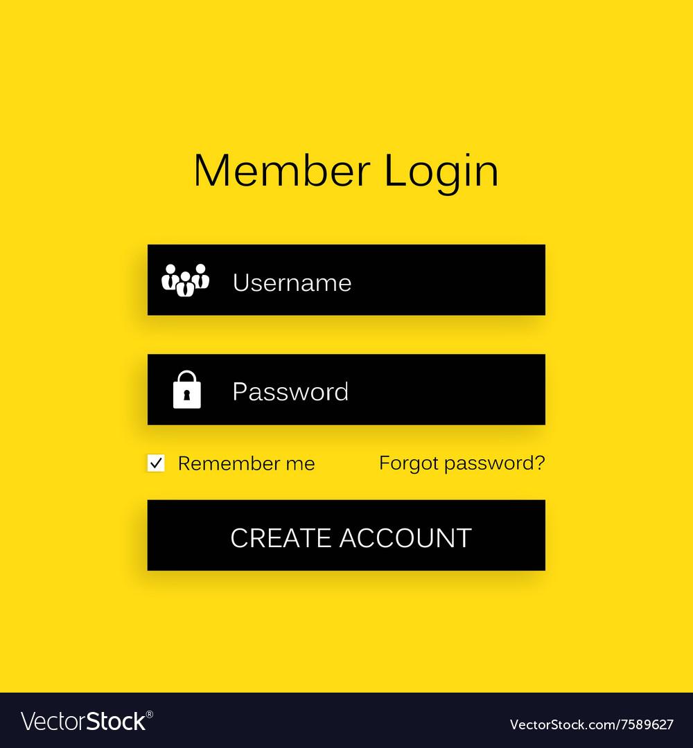 Mobile user ui kit form interface For web
