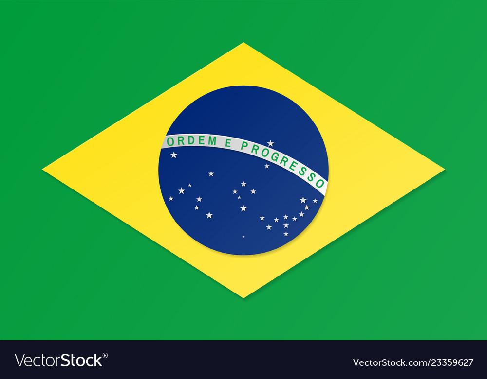 Paper cut brazil flag