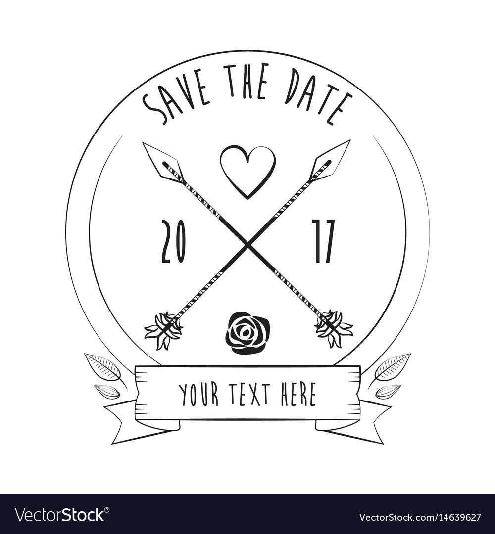 Save the date rustic card greeting love decoration
