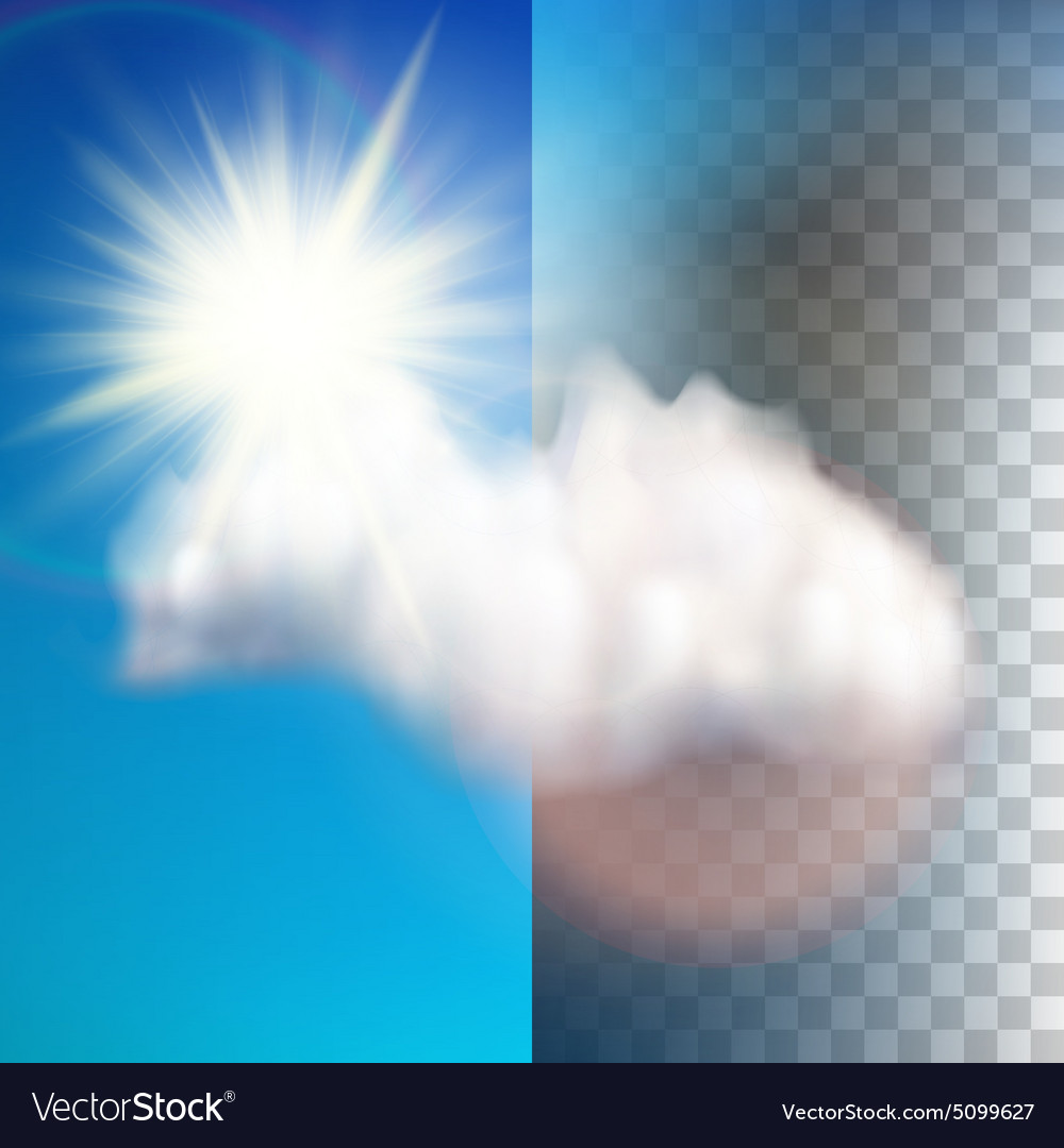 Sun with cloud floats in the sky EPS 10