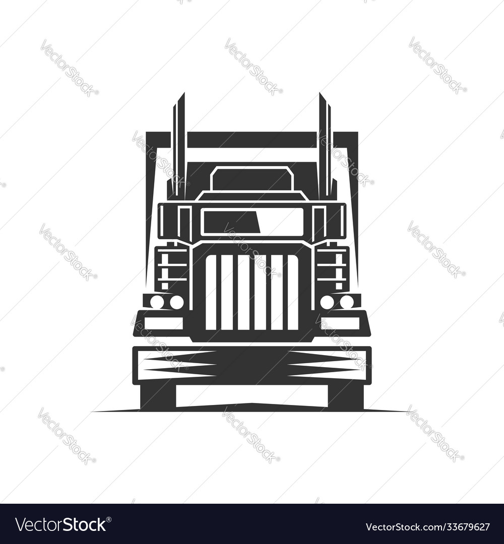 Truck logistic silhouette logo template perfect