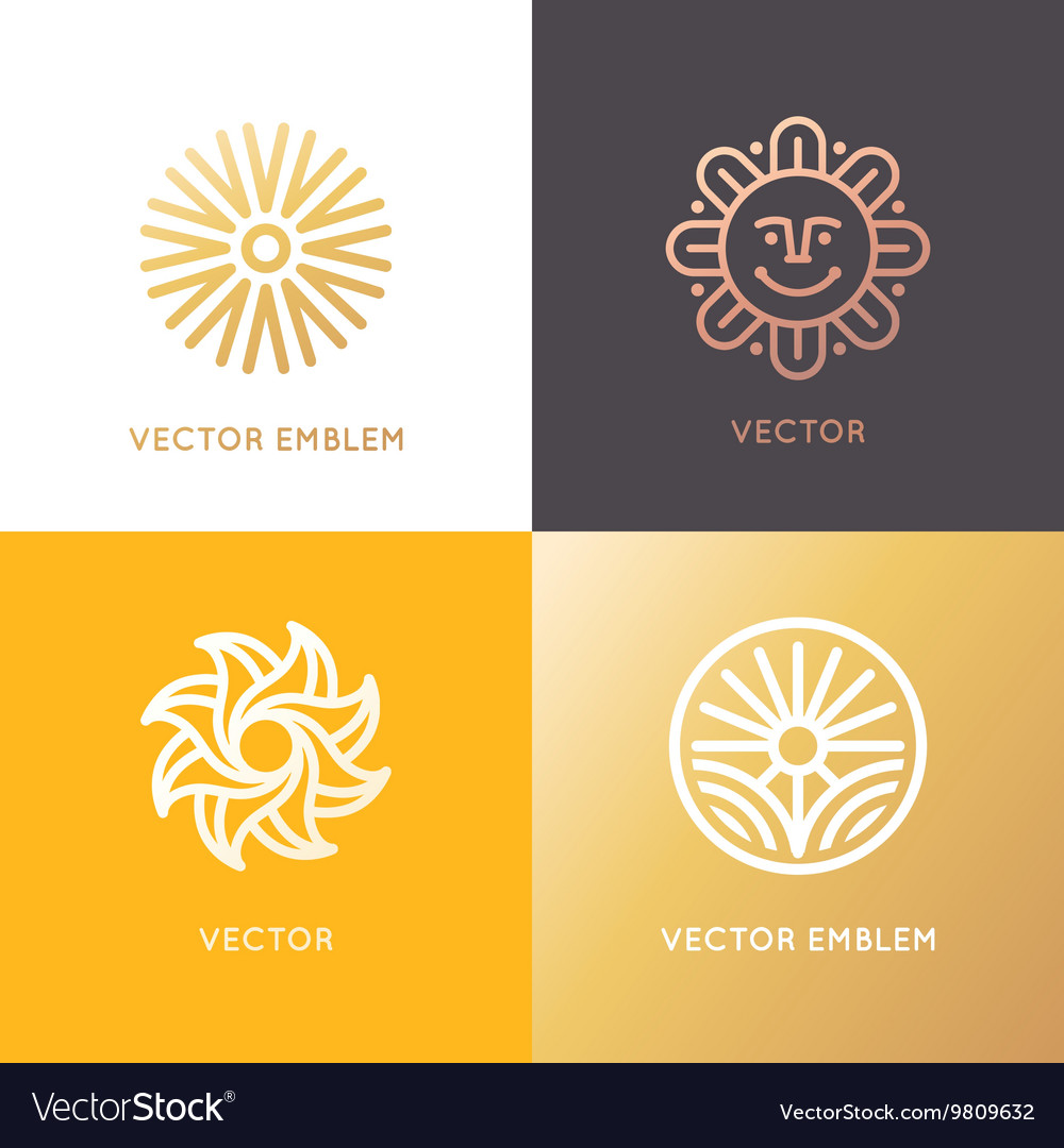 Abstract logo design template in trendy linear