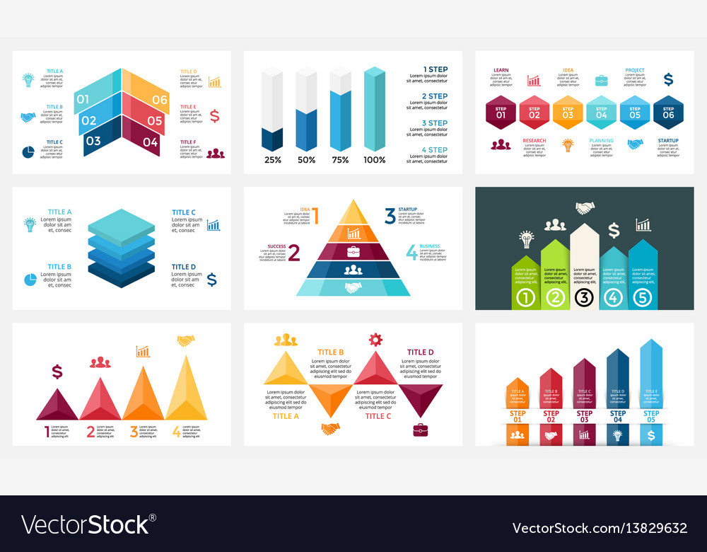 Arrows Infographic Diagram Chart Graph Royalty Free Vector