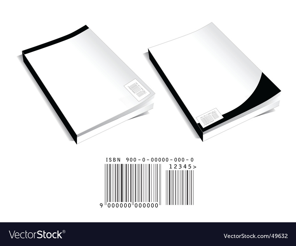 Book covers with barcode vector image