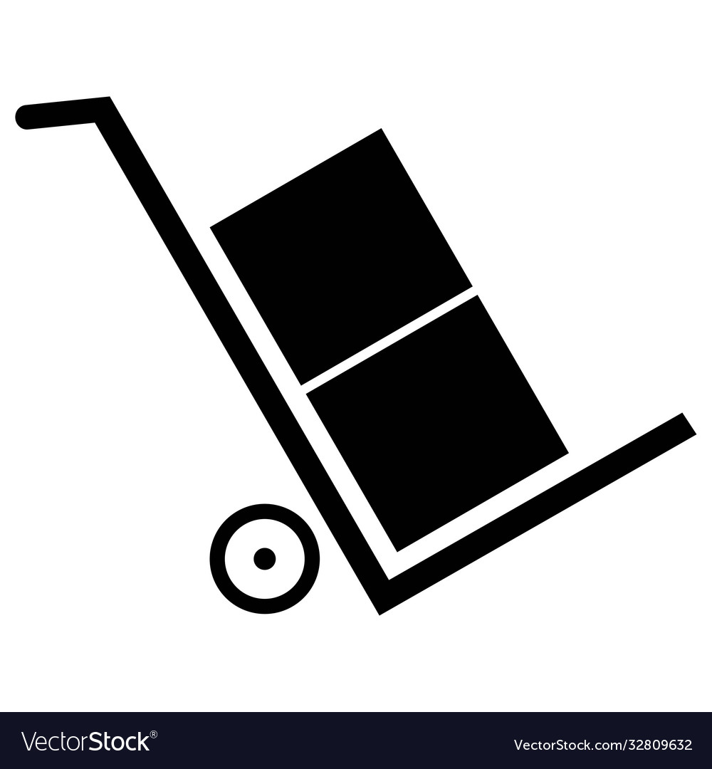 Delivery trolley icon