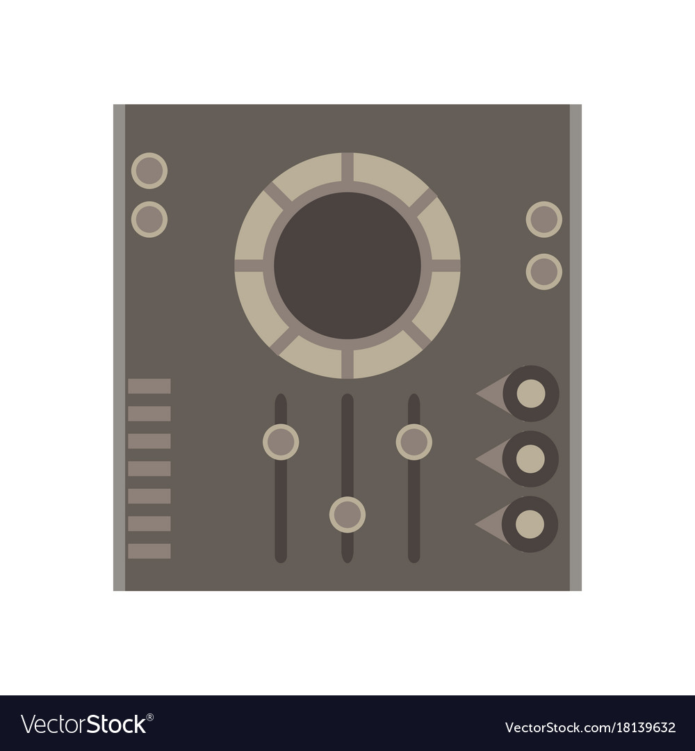 Dj mixer icon music party audio console control vector image