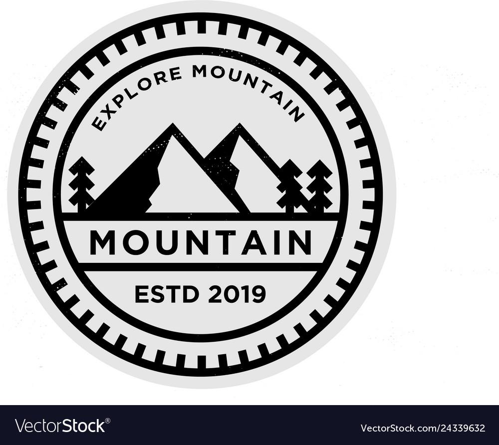 Mountain badge logo design