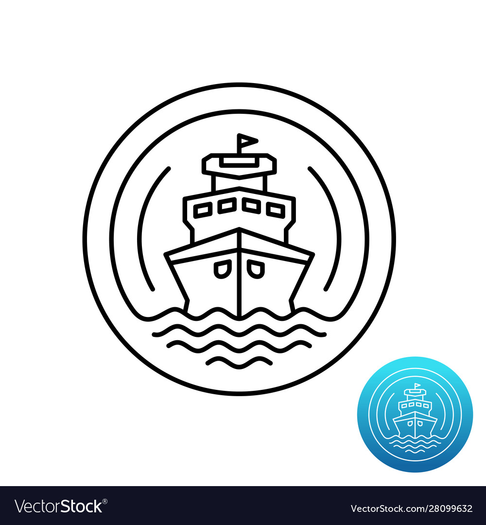 Ship cruise logo sea shipping line symbol