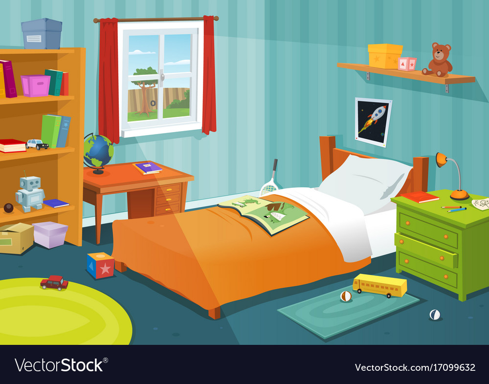 Charming Some Kid Bedroom Vector Image