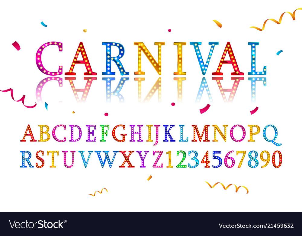 Vintage Carnival Font Royalty Free Vector Image