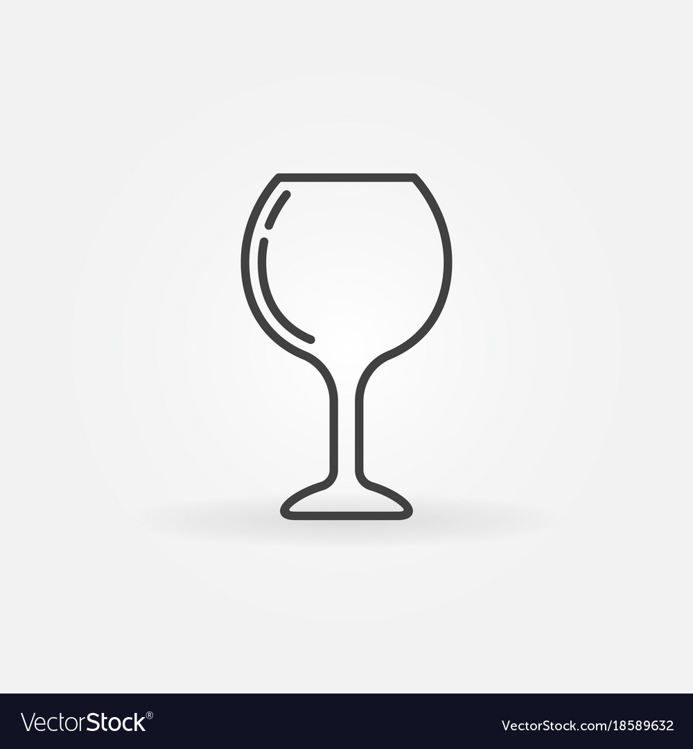 Wine glass simple icon