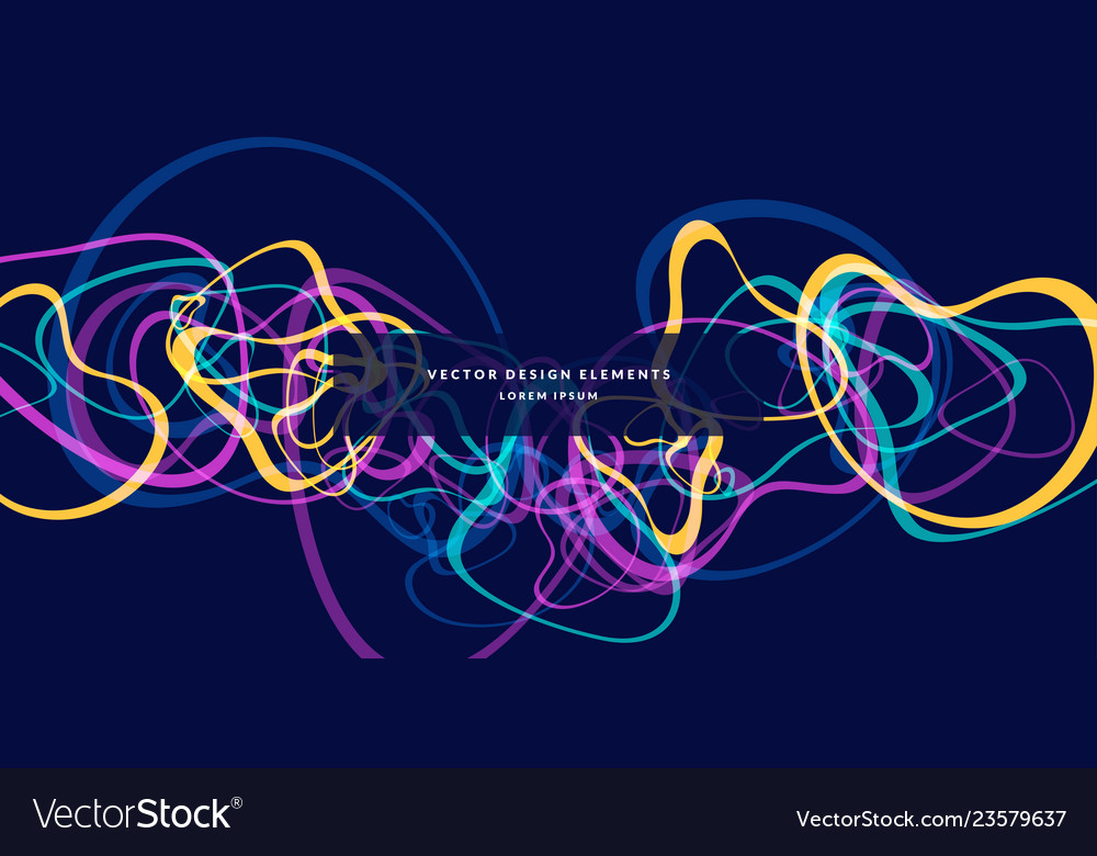 Bright abstract background with colored lines