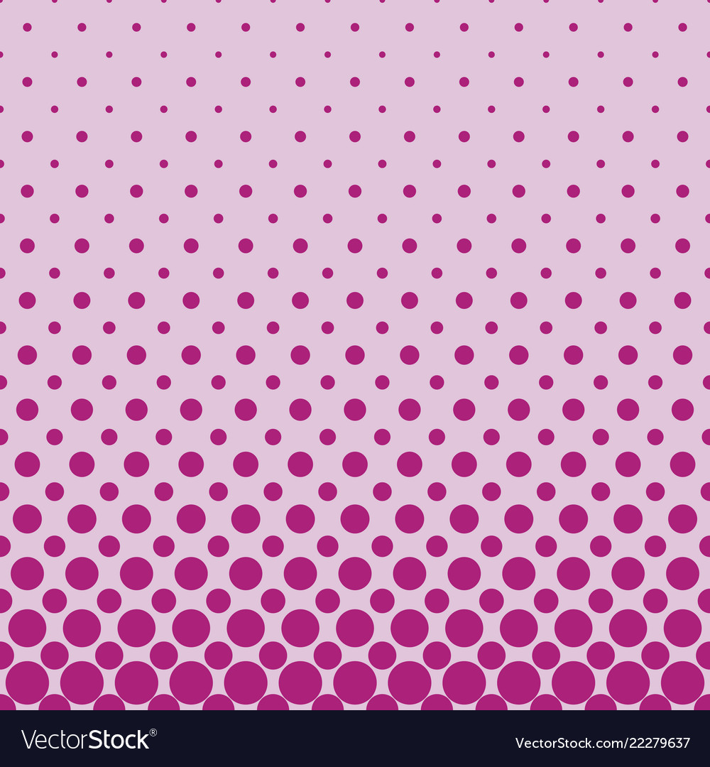 Color abstract repeating halftone circle pattern