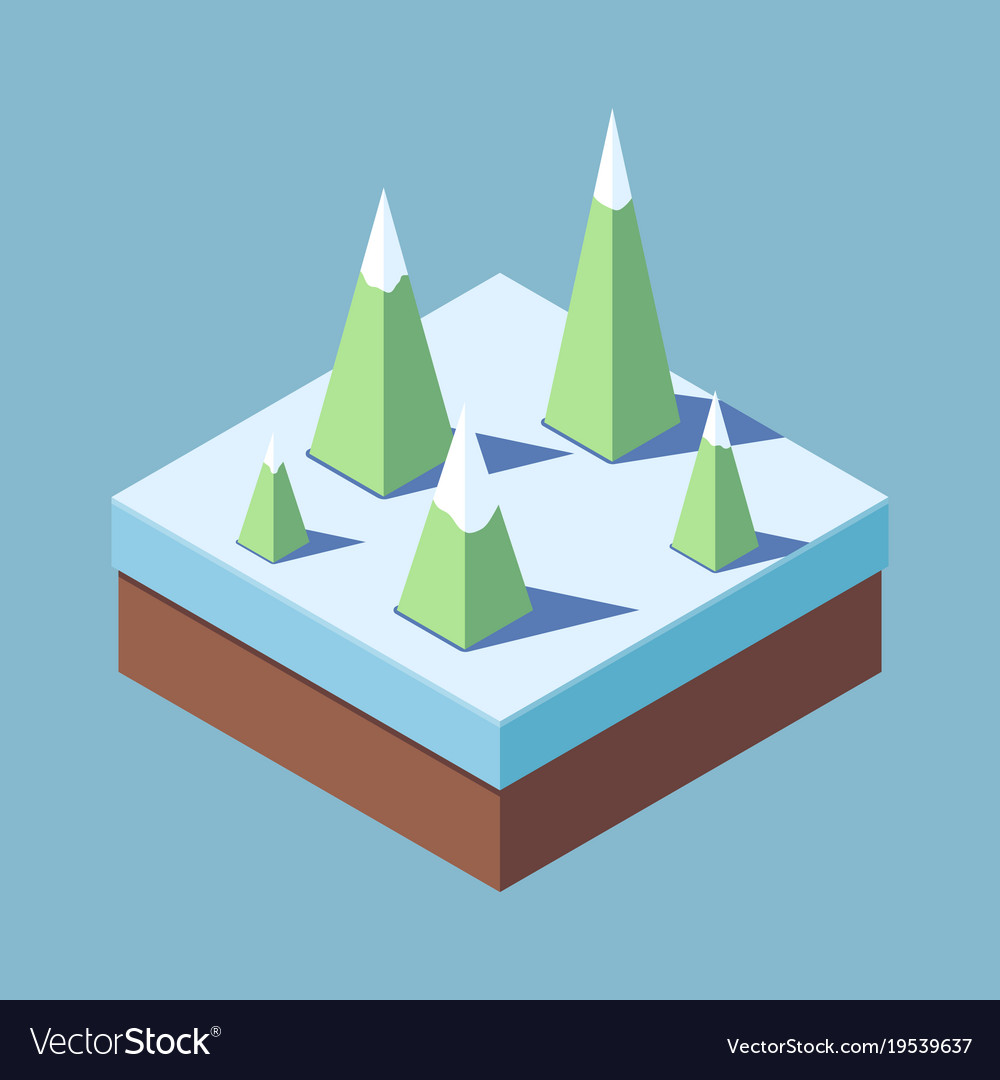 Concept of a christmas tree in winter