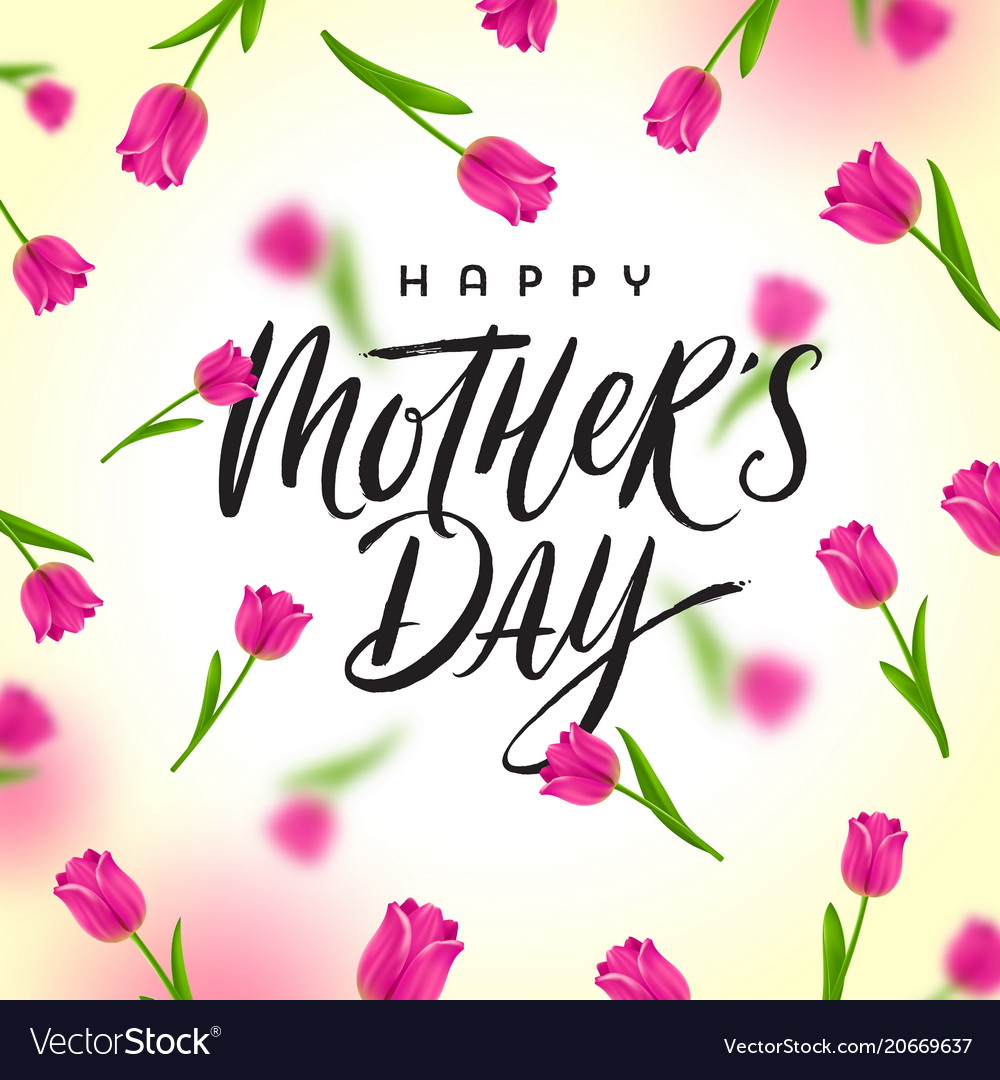 Astounding Happy Mothers Day Greeting Card Design Vector Image Birthday Cards Printable Opercafe Filternl