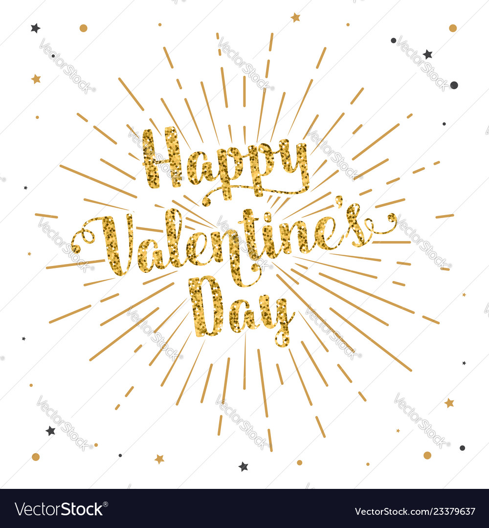 Happy valentine s day text and lettering