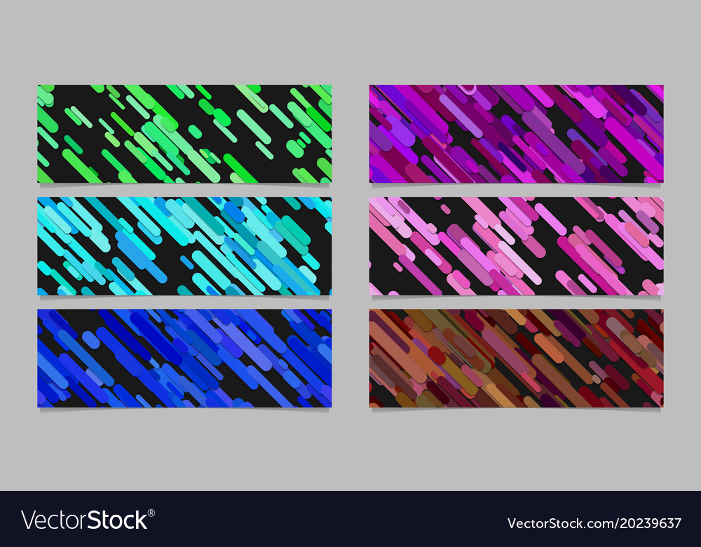 Modern diagonal stripe pattern banner background vector image