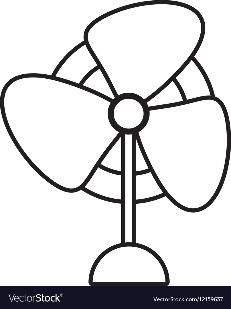 Pedestal fan electronic domestic appliance outline