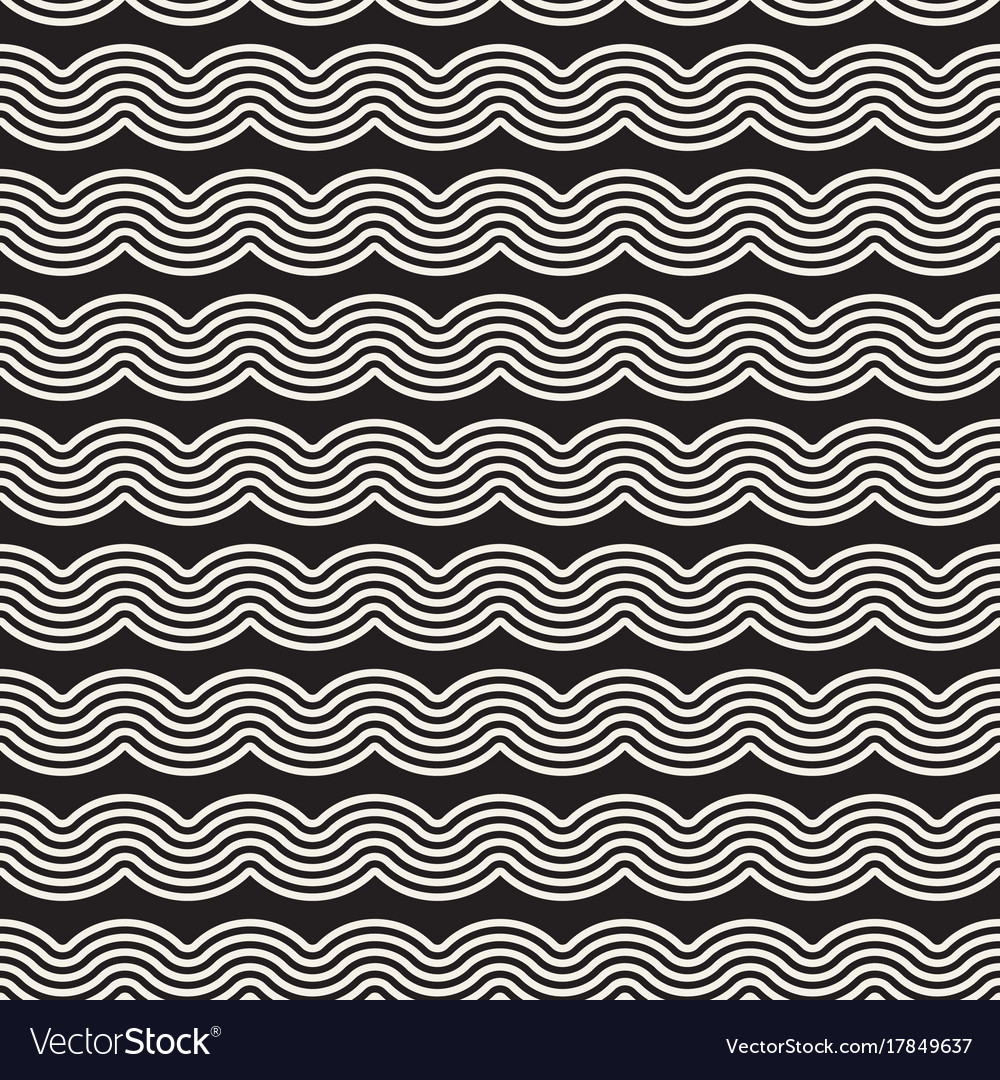 Seamless wavy lines pattern repeating