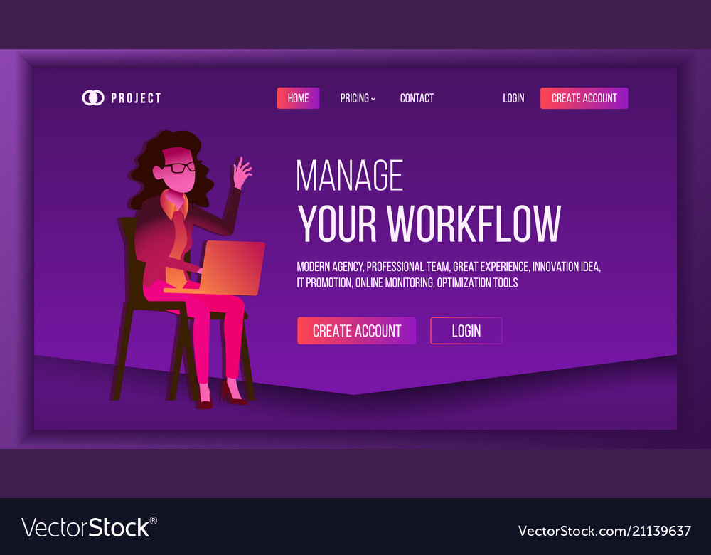 Workflow business landing page