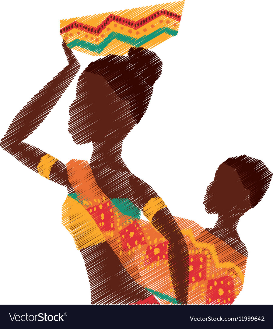 African woman baby