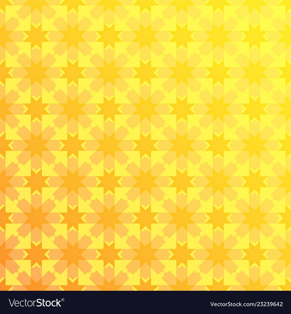 Arabesque geometric seamless floral yellow pattern