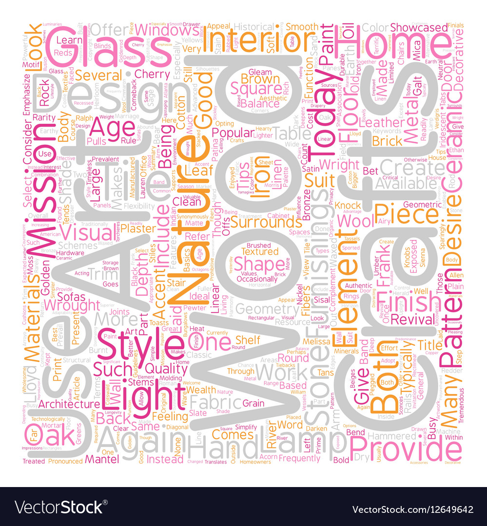 Arts and Crafts Revival text background wordcloud