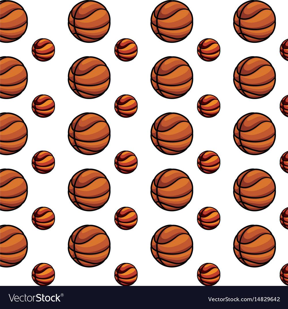 Basketball ball equipment vector image