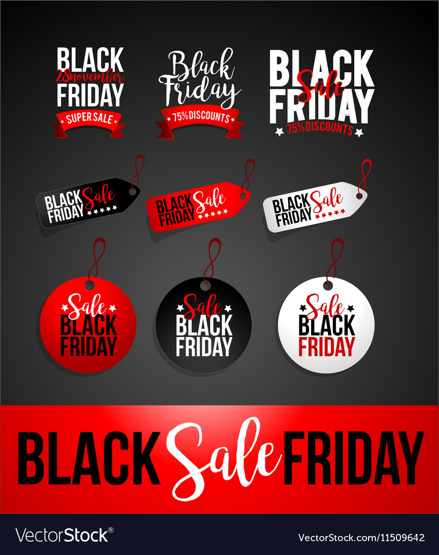 Black Friday Sale Discount Banner Royalty Free Vector Image