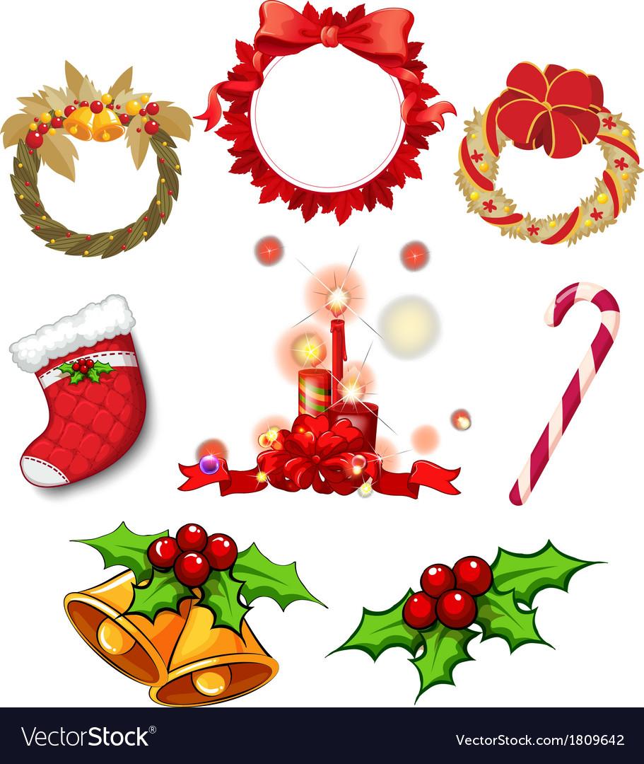 Christmas decors vector image